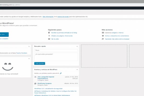 Como acceder al panel de administración de WordPress